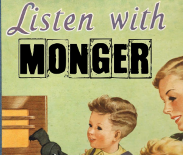 Listen With Monger logo