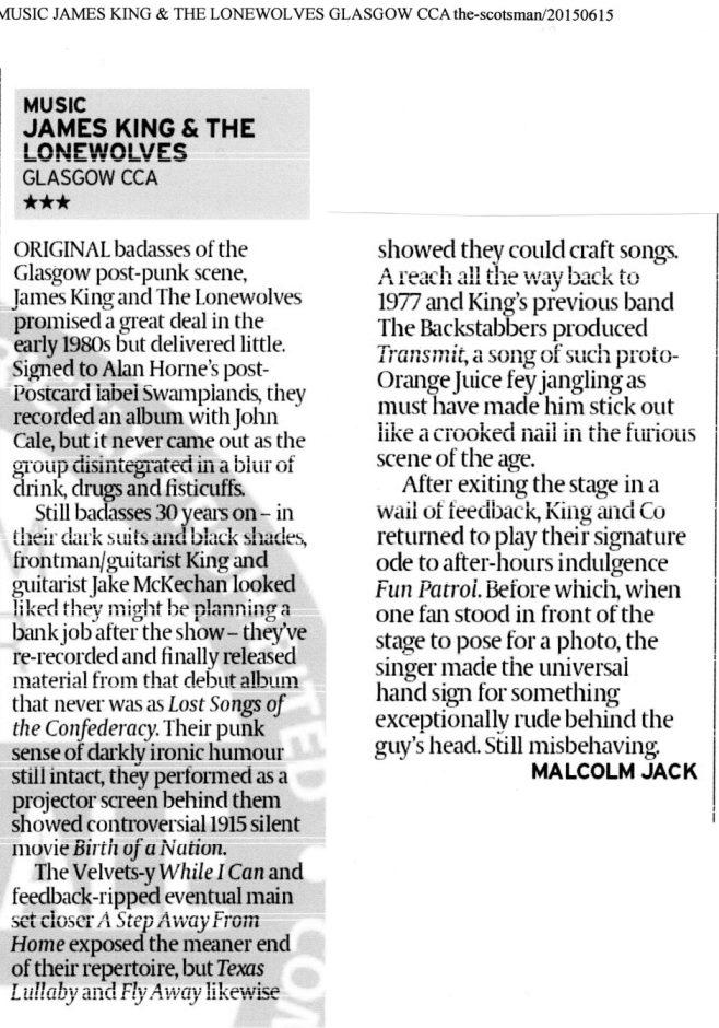Scotsman Review 18.06.15