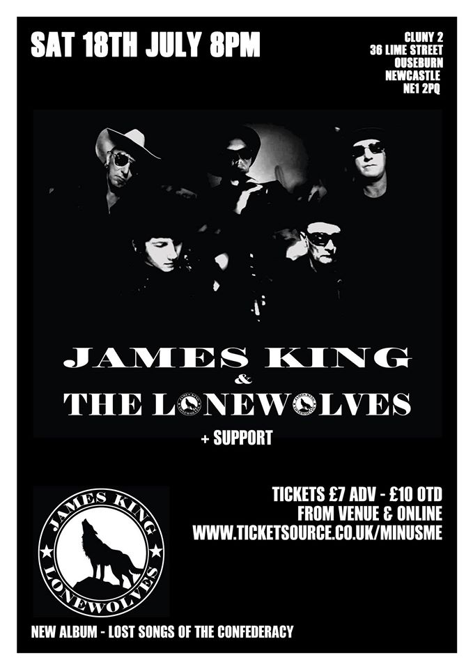 James King & The Lonewolves Cluny 2 gig poster