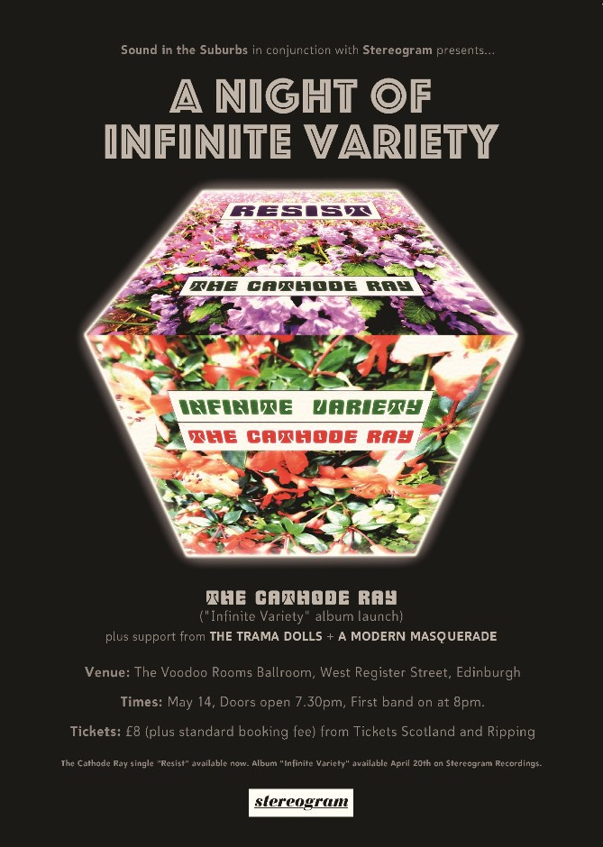Infinite Variety Album Launch Poster - black smaller