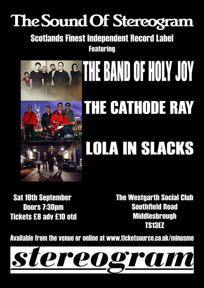 Middlesbrough gig poster