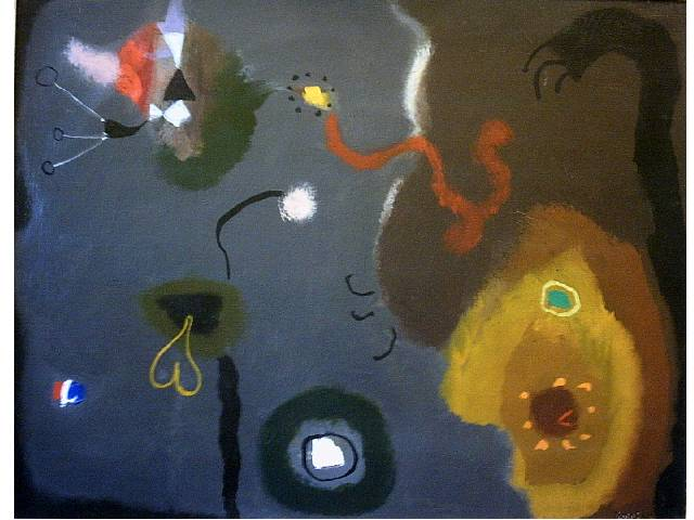 Creatures Defying The Moon 36 x 28 inches. Oil on canvas. 1985