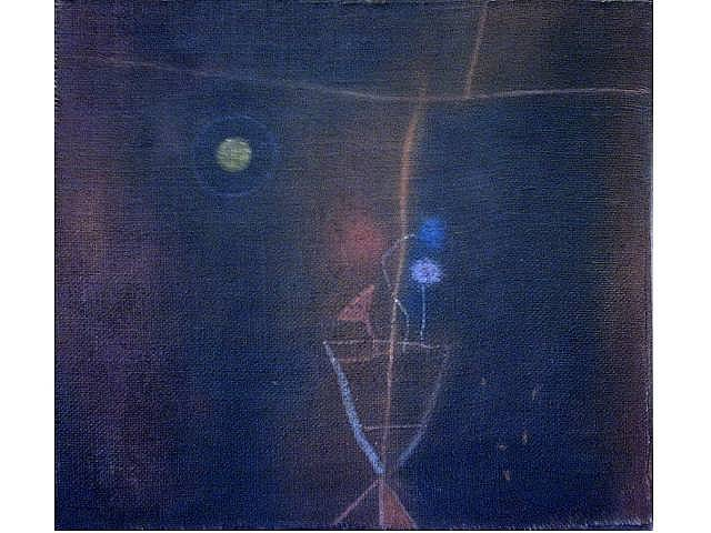 Night Window. Oil on canvas. 20 x18 inches. 1973
