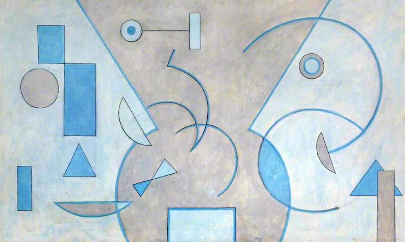 A Trois Blanc 91 x 152cms. Oil on canvas.1973