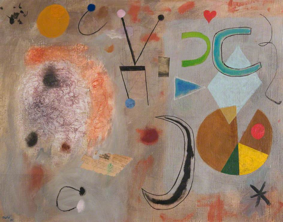 Abstract Composition. 92 x 102 cms. Oil on canvas,1985