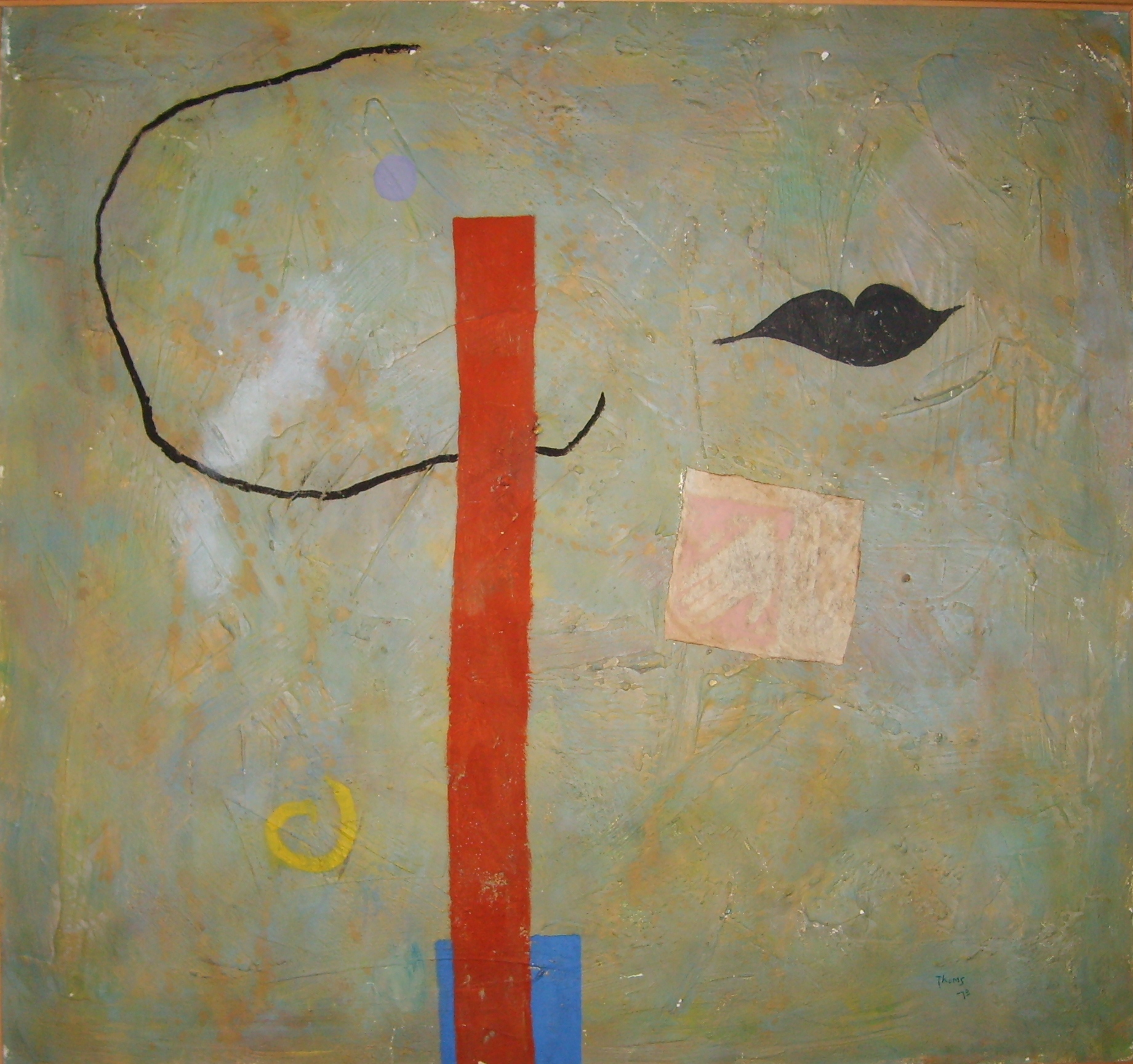 Black Lips & Vertical. 96 x 90 cms. Oil on canvas 1973