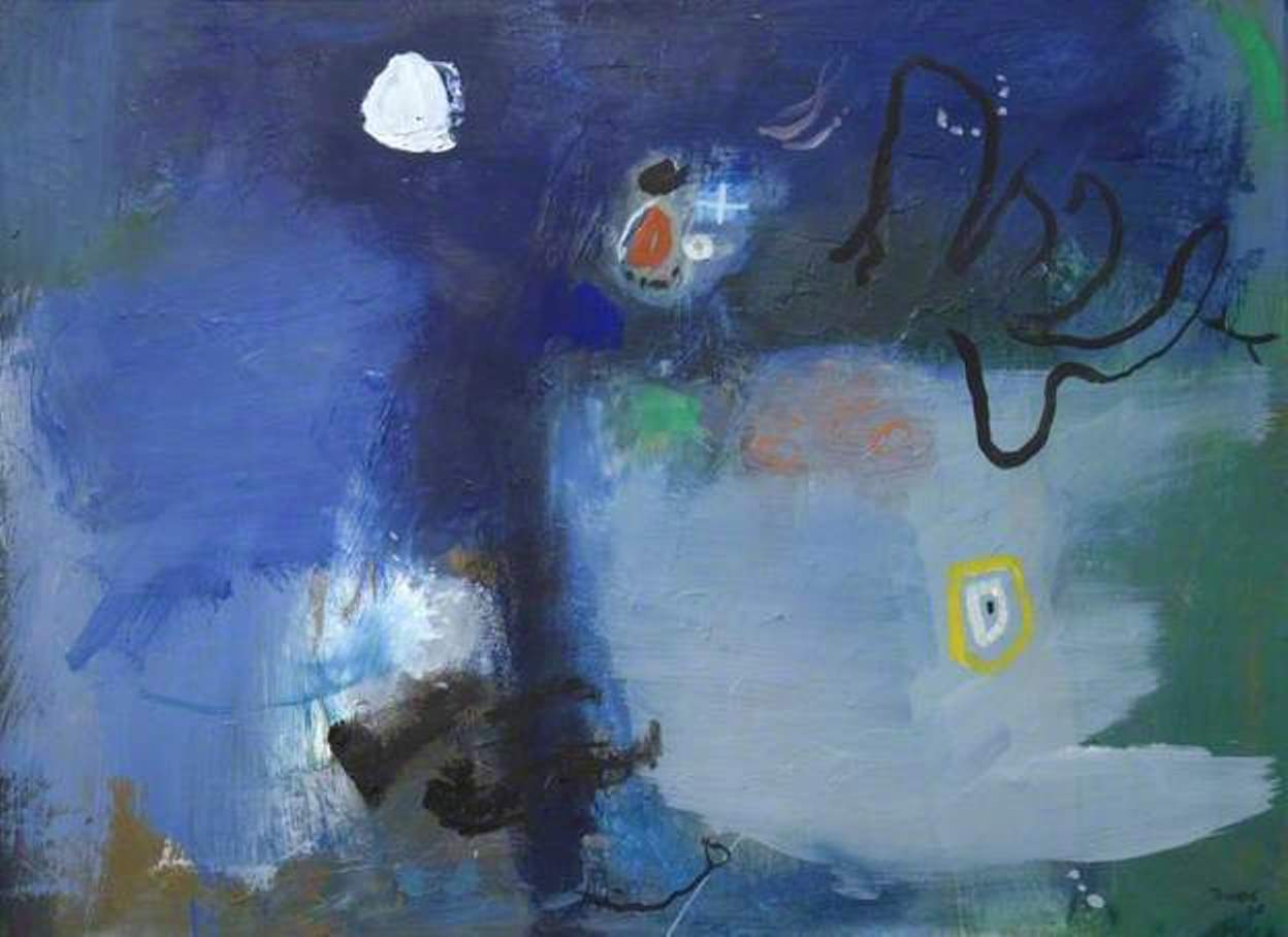 Blue Abstract 52i x 71 inches. Oil on canvas 1965