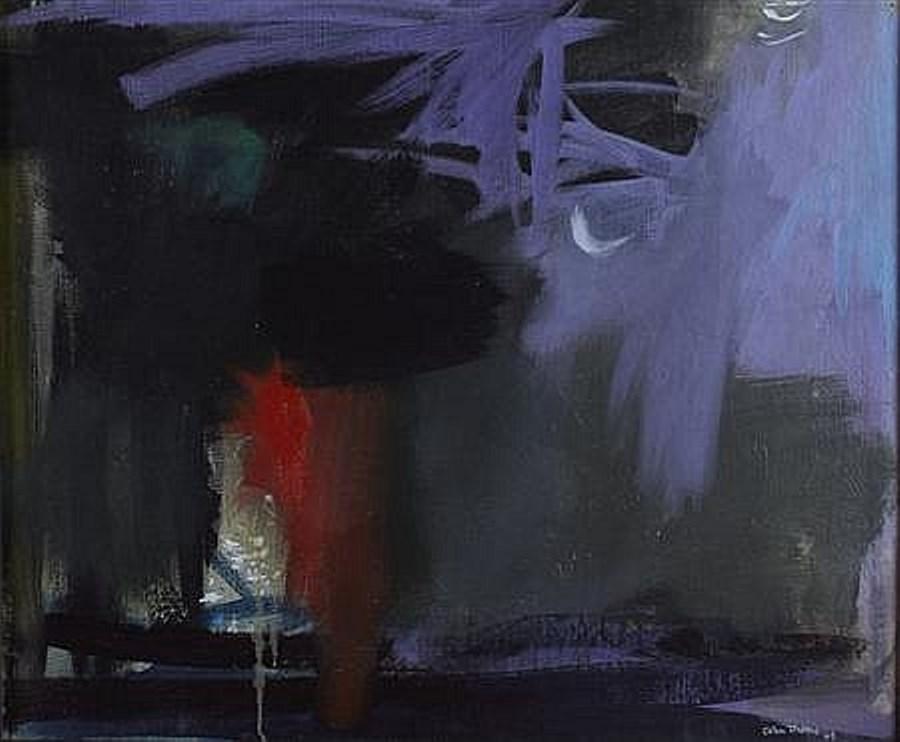 Bonfire 1964 Oil on canvas 63cm x 76cm