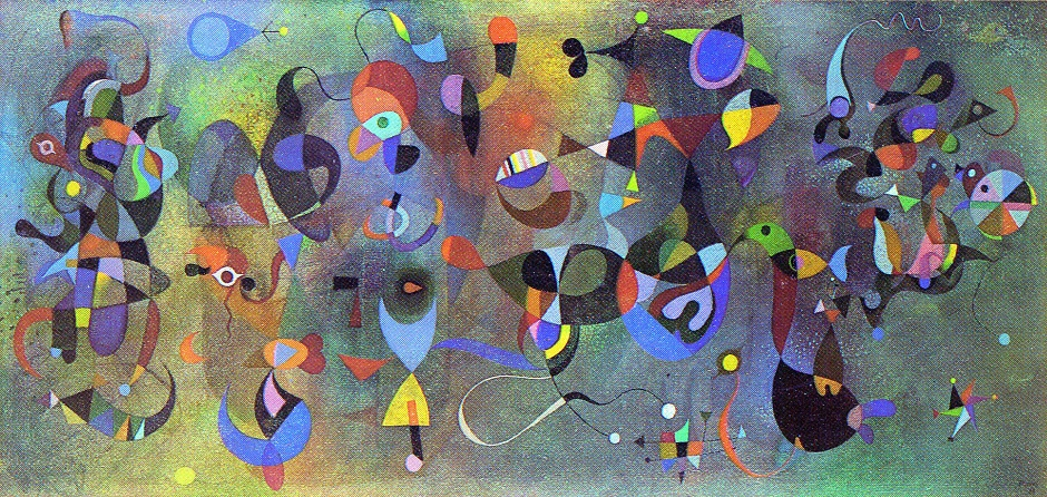 The Poet Surprised By A Flight Of Birds. Oil on Canvas 30 x 60 ins 1968