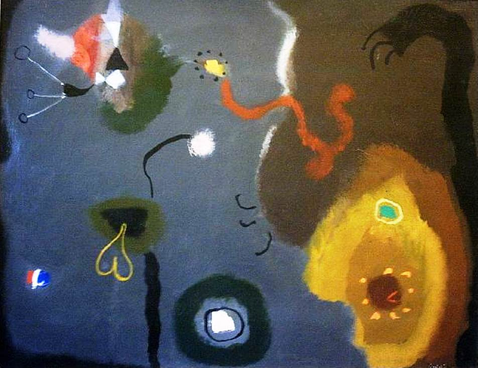 Creatures Defying The Moon 28 x 36 inches Oil on canvas 1985