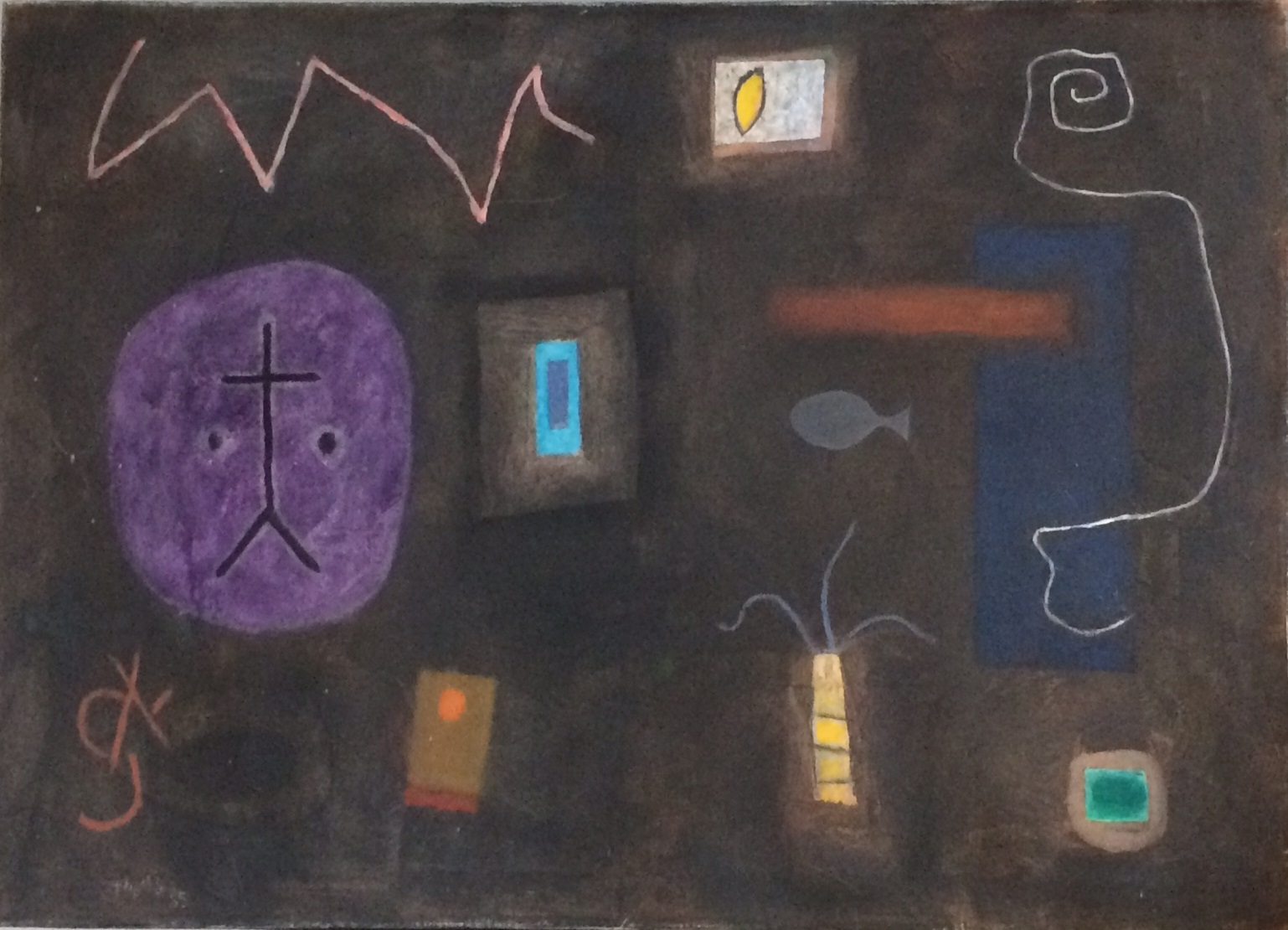 Dark Secret Oil on canvas 1985 26 x 36 inches