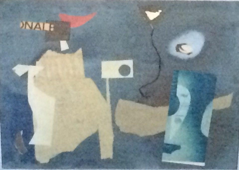 Mixed media collage 1972 16 x 14 inches