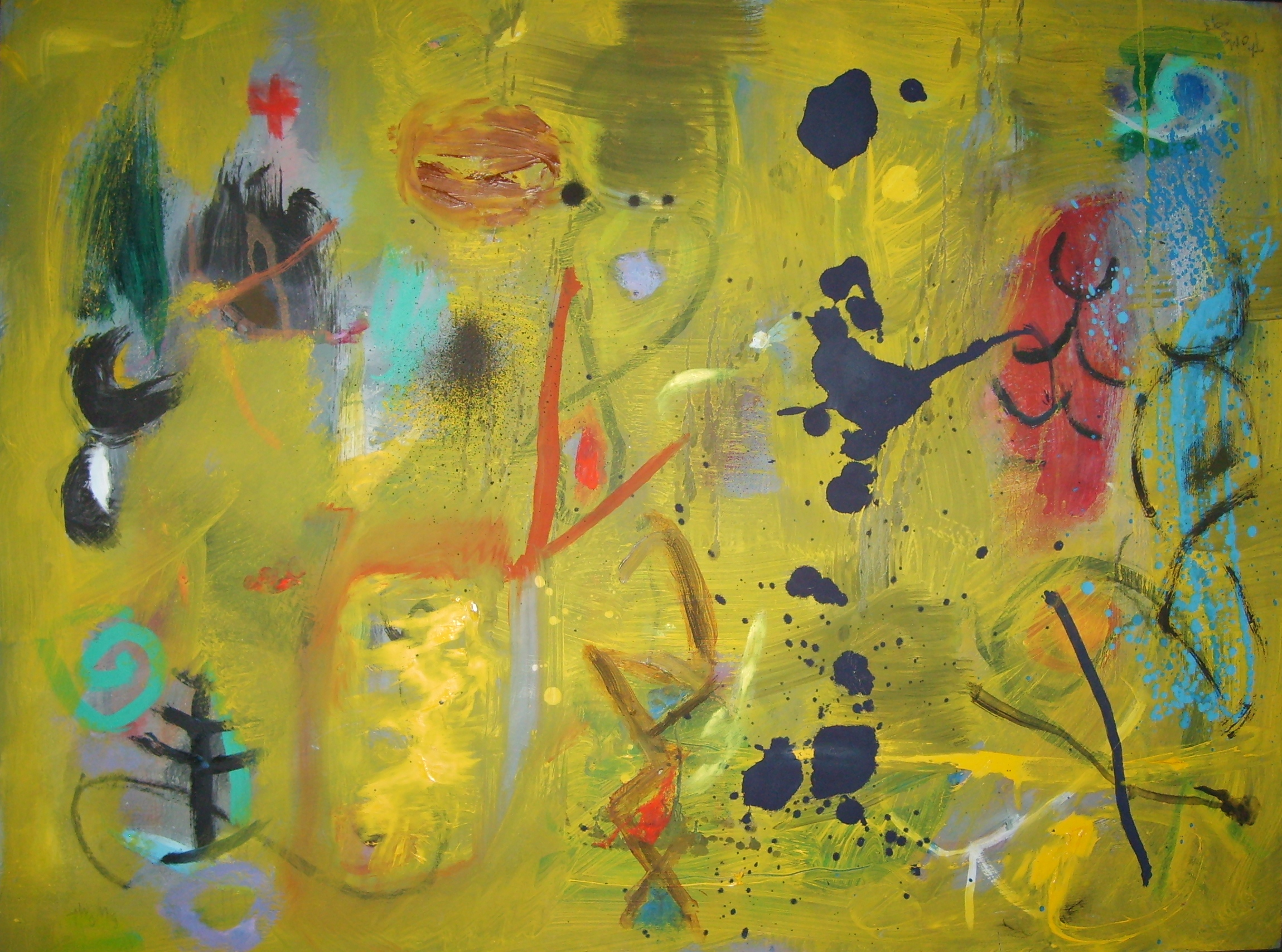 Yellow Ground Dead Woodland 90 x 70cm Oil on board1993